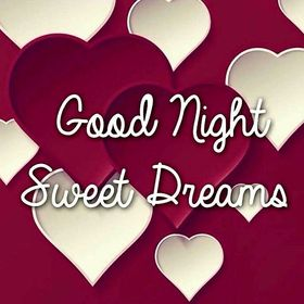 Good Night! Ecard for Your wife! Hearts. Good Night... wishes... sweet Dream... Beautiful good night... White hearts. Red hearts. Big purple hearts. Free Download 2018 greeting card