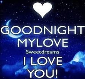 Sweet dreams, my love! I love you. Night sky with stars and heart. Let it be a soft bed, So that you want to sleep, The pillow beckons and calls, And the blanket awaits you! I love you, sweetie. Free Download 2018 greeting card