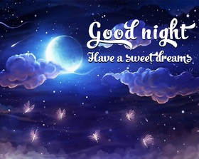 Good Night. Ecard for your little sister. Good Night... wishes... Have a sweet Dreams... Moon... Cartoon ecard. Free Download 2019 greeting card