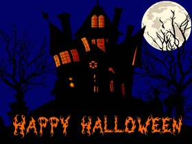 Happy Halloween! Ecard. It is a scariest night of the year! Be careful! Free Download 2021 greeting card