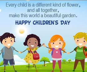 Children are flowers! New ecard for free! Happy Children. Flowers of our lives. Free Download 2019 greeting card