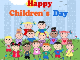 Happy Children's Day! New ecard for free! Happy Children's Day! Children. Free Download 2019 greeting card