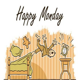 Crazy Monday Morning. New ecard. Alarm. Man waking up. Monday Morning. Crazy Morning. Funne Monday pic for frinds. Happy Monday! Free Download 2020 greeting card