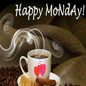 Happy Monday Coffee Smell. New ecard. Hot Coffee. Sweets. Coffee smell. Happy Monday. Have a nice / great week. Monday wishes and postcards. Free Download 2018 greeting card