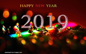 Brilliant e-card for a New Year. Magic ecard 2019. Happy New Year 2019. Light. Glittering. Free Download 2018 greeting card