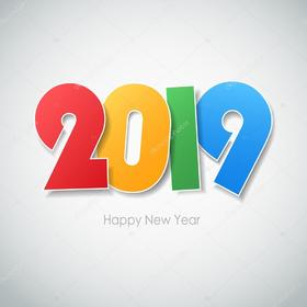 Download Happy New Year card. Magic ecard 2019. Happy New Year 2019 letters. Free Download 2019 greeting card