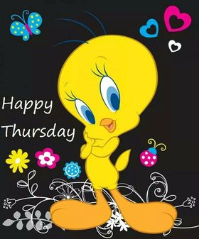 Happy Thursday, friend! That's for you. New ecard. Download a card for a friend. Free download. Happy Tuesday. A productive week. Ecard with yellow duckling from cartoon. Free Download 2019 greeting card