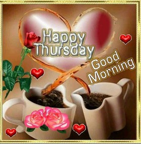 Happy Tuesday. Good Morning for my love. New ecard Good morning and have a Happy Tuesday. Two heart cups of coffee and a rose. Free Download 2019 greeting card