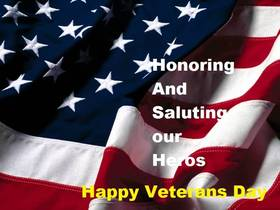 Happy Veterans Day, Dear grandparents! New ecard. Honoring And Saluting our Heros... Happy Veterans Day!!! Free Download 2018 greeting card