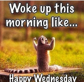 Good morning Wednesday for friends. New ecard. Woke up this morning like...Friends, it's a new day, a time for new adventures. Good morning. Good Wednesday and week. Free Download 2018 greeting card
