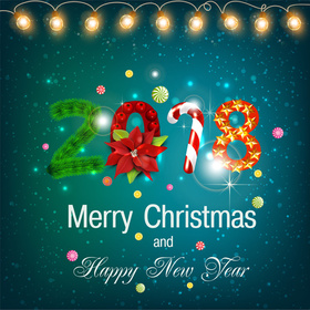 Merry Christmas 2018 card for friend. New ecard. Merry Christmas and Happy New Year. On this bright holiday, I wish you to see only good things in the world around you and find all the good in people. Free Download 2021 greeting card