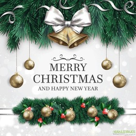 Merry Christmas and Happy New Year card. Merry Christmas 2018. I wish to be healthy, honest, conscientious person and think about others. Free Download 2021 greeting card