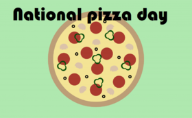 National pizza day card from beloved sister. Pizza for the sister. Download greetings card for national pizza day. Postcards for the family. For lunch we have pizza. Free Download 2019 greeting card