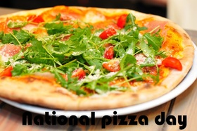 Pizza day for friends. New Ecard. National pizza day!!! Greeting card ... Have a nice day. Where is pizza, there are your friends, Where pizza, there is fun. Free Download 2019 greeting card
