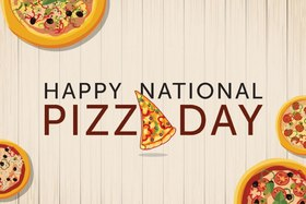 Pizza day card for beloved girlfriend. New Ecard. National pizza day Greeting card. Have a nice day. Postcard for family and friends... Free Download 2019 greeting card
