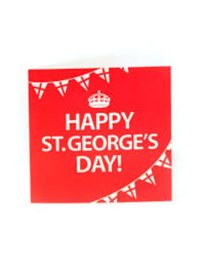 Saint George's day ecard. Happy St. George's Day! Let him keep you from misfortunes from bad events and from all sorts of grievances. Free Download 2019 greeting card