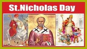 St. Nicholas Day 2018 December 6. Saint Nicholas. Life of St. Nicholas in pictures. Free Download 2019 greeting card