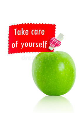 Take Care Of Yourself and Stay Healthy! New ecard. Take care of yourself. Apple. Be Healthy. Free Download 2019 greeting card