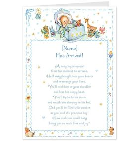 Wishes for new born baby boy. Ecard for free. A baby boy is special from the time he arrives. Cute postcard for friends that had a baby boy. Our congratulations Free Download 2021 greeting card