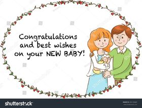 My best wishes on you new baby! Best wishes for a birth of a baby. Beautiful family. Congratulations on you new baby. The birth of a babby. I wish your baby to be blessed and happy. Free Download 2021 greeting card