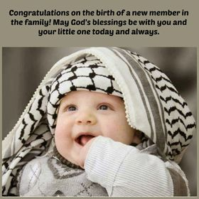 Wishes for the birth of a baby. Ecard for free. Congratulations on the birth of a new member in the family! May God's blessing be with you and your little one today and always. Free Download 2021 greeting card