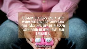 Deepest wishes for a new baby girl. Ecard. New baby girl. Congratulatons and a very warm welcome to your baby girl. Free Download 2021 greeting card