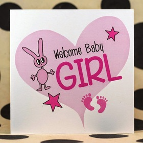 Welcome Baby Girl. New ecard for free. Postcards for brand new parents. Newborn baby girl. Congratulations on the birth of a baby girl. Wish your girl to be happy. Free Download 2021 greeting card