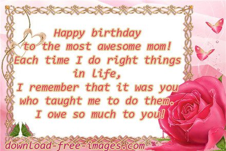 Happy Birthday Mom From Daughter Wishes For New Ecard The Best Greeting Card You