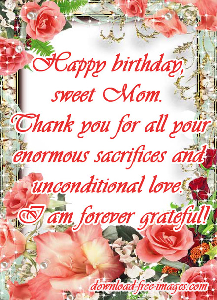 Happy Birthday Wishes For Mom Nice Ecard Flowers Roses Messages The Best Greeting Card You