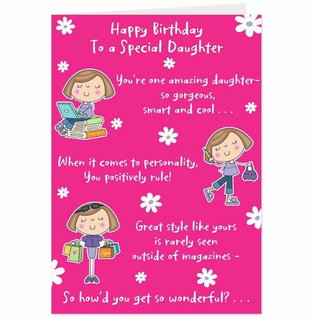 Happy Birthday For A Special Daughter Ecard The Best Greeting Card You