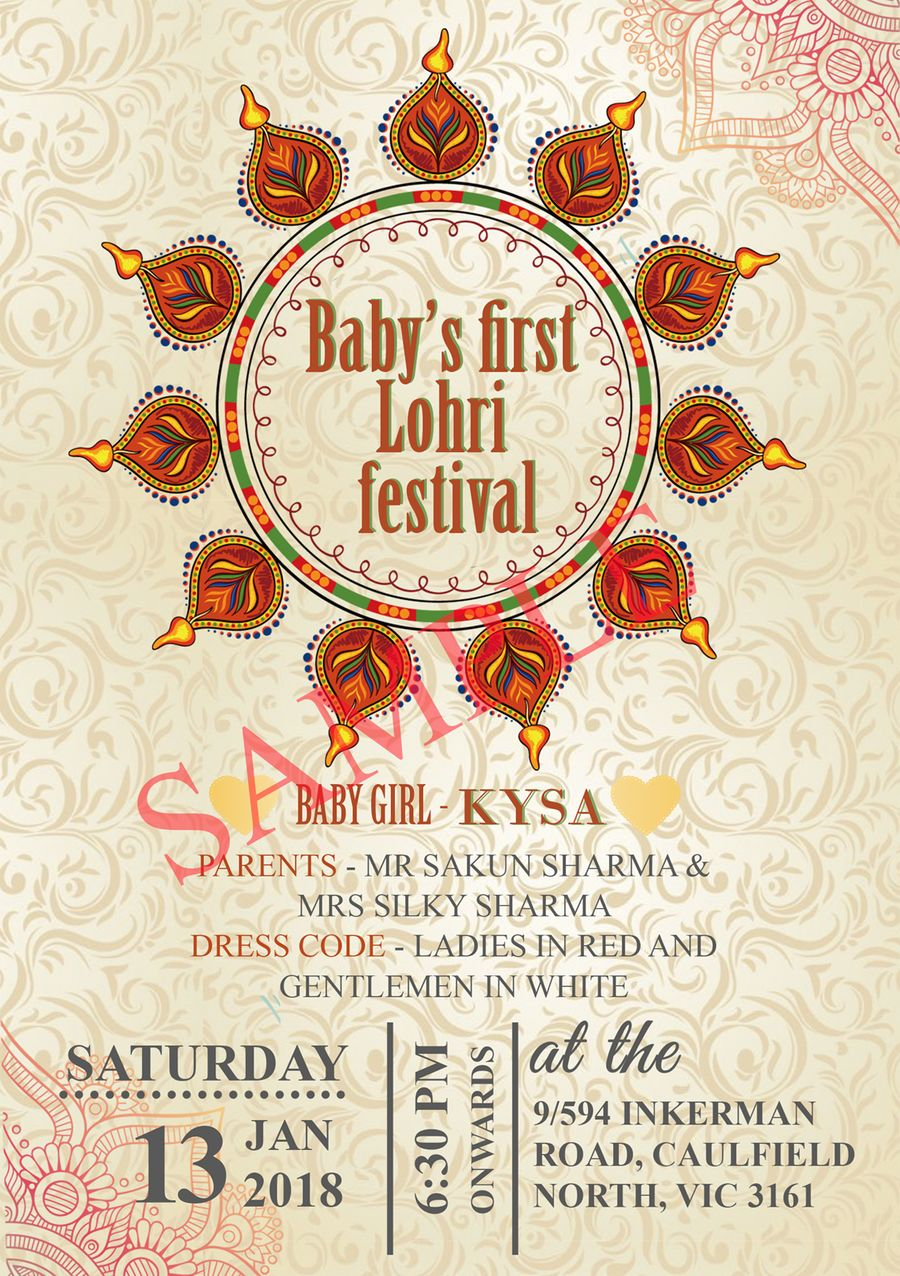 Baby S First Lohri Festival The Best Greeting Card For You