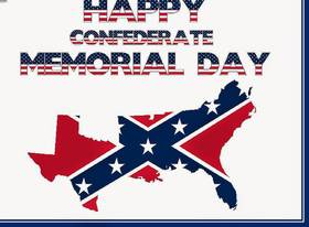 Confederate memorial day... Greeting card... Greeting card with staff... On white backgrounds an interesting inscription... Free Download 2019 greeting card