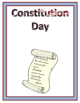 Constitution day 2018... Card for father... On this day, many Americans make donations to charitable foundations. Free Download 2021 greeting card