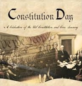 Constitution day 2018... Card for parents... This is the first Constitution in the world, clearly defining the rights and freedoms of a person as a citizen of his country. Free Download 2019 greeting card