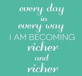 Everyday... Every day in every way... New ecard. Every day in every way I am Becoming richer and richer... Free Download 2021 greeting card