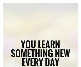 Everyday... Learn new every day... New ecard. You learn something new every day....Have a goodday... Free Download 2021 greeting card