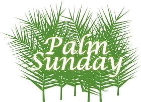 Happy palm sunday 2019... card for father... Inscription with a pepper sprig... Greeting card... Free Download 2019 greeting card