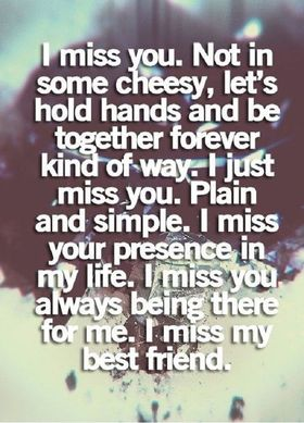 I miss you... Not on some cheesy... Nice ecard! Let's hold hands and be together forever kind of way... I just miss you... Free Download 2018 greeting card