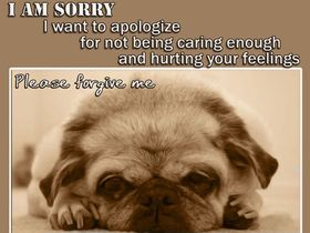 I want to apologize! Cute dog. New ecard. I want to apologize for not being caring enough and hurting youe feelings! Free Download 2019 greeting card