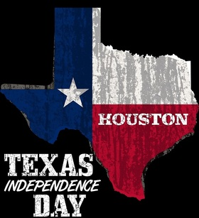 Texas independence day... Greeting card... A beautiful postcard on a black background with an interesting inscription... Free Download 2019 greeting card