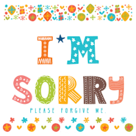 The colorful ecard! New ecard. ClipArt. Can you forgive me, my friend? Free Download 2019 greeting card